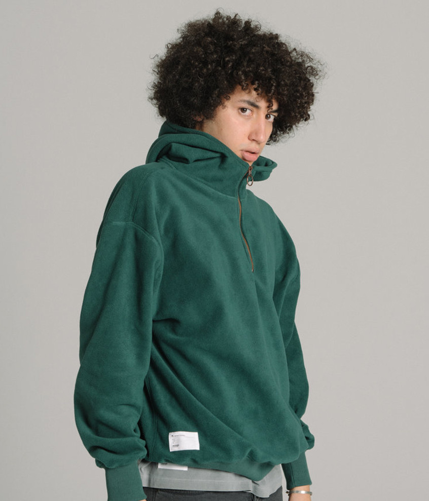Fleece Hoodie - Forest Green