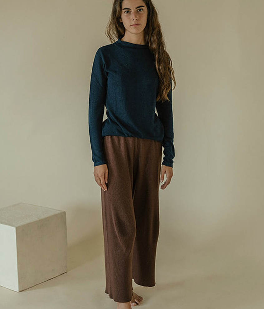 Knitted Pants - Brown
