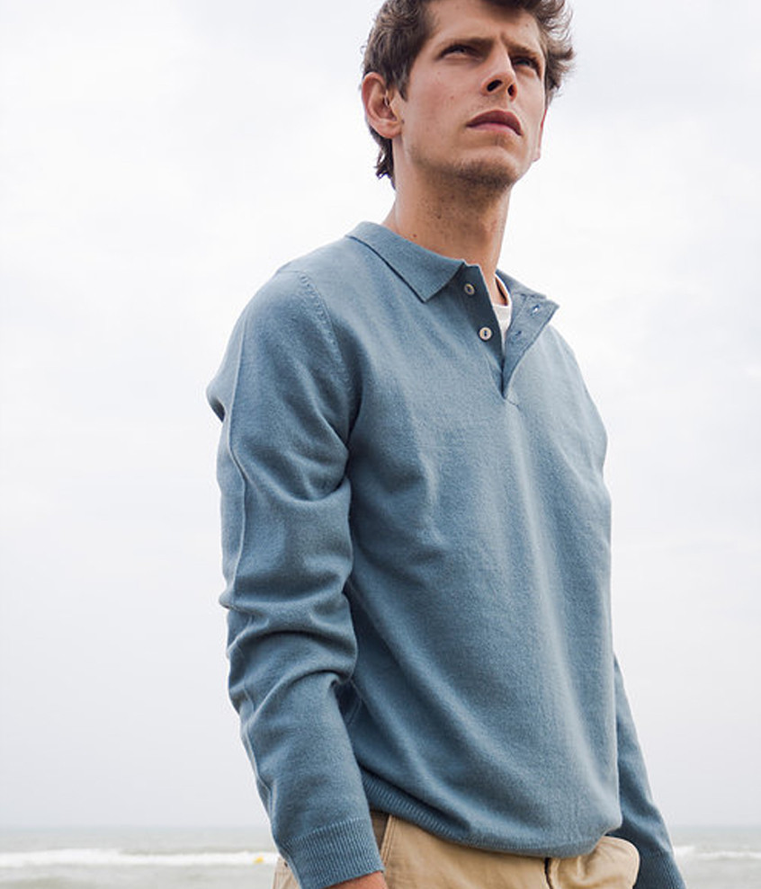 Blue Cashmere Polo