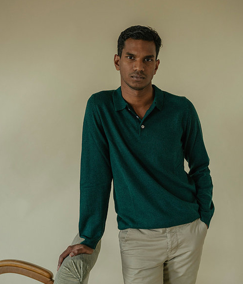 Green Cashmere Polo
